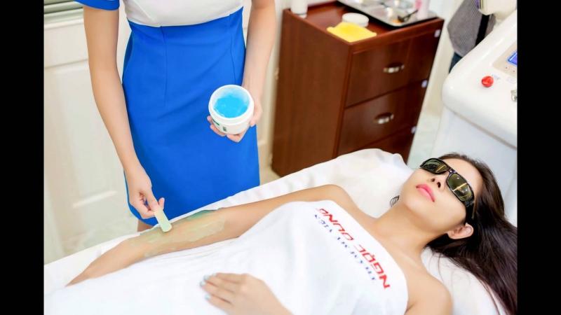 Khách hàng trải nghiệm dịch vụ triệt lông tại TMV Ngọc Dung