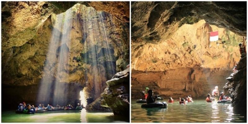 Tham quan những hang động ngầm thông với dòng sông Lười Biếng