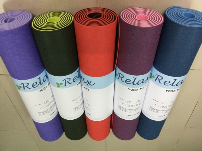 Thảm yoga Relax TPE 6 ly (2 lớp)