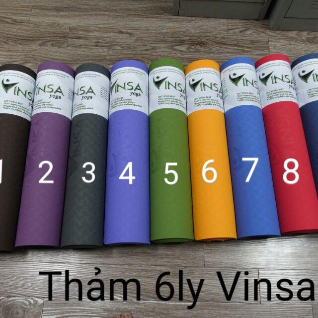 Thảm yoga Vinsa 6 ly có nhiều màu sắc đa dạng cho bạn lựa chọn với nhiều lứa tuổi và nhu cầu sử dụng.