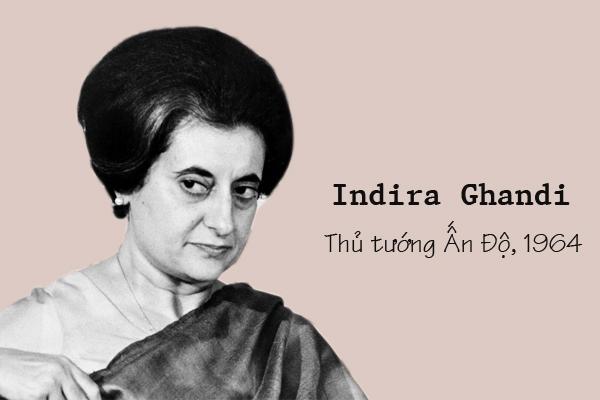 Nữ thủ tướng đầu tiên của Ấn Độ, Indira Gandhi