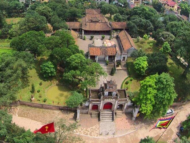 Thành Cổ Loa nhìn từ trên cao