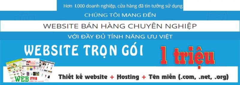 Giá cả thiết kế web bán hàng của công ty rất hợp lý