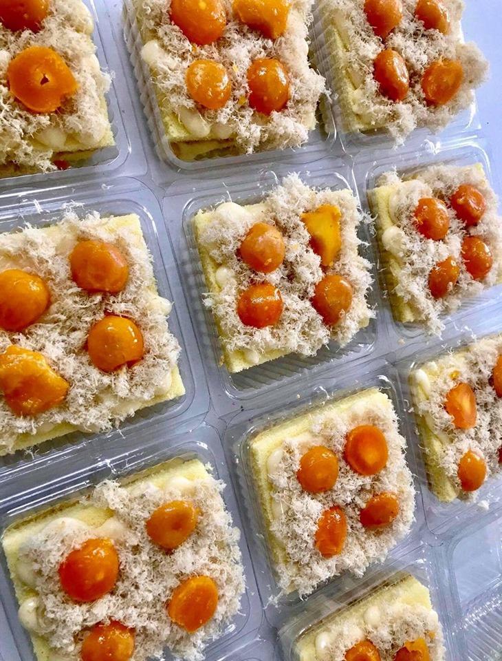 Bánh bông lan trứng muối Thanh Huyền