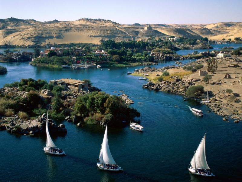 Quang cảnh thơ mộng của sông Nile