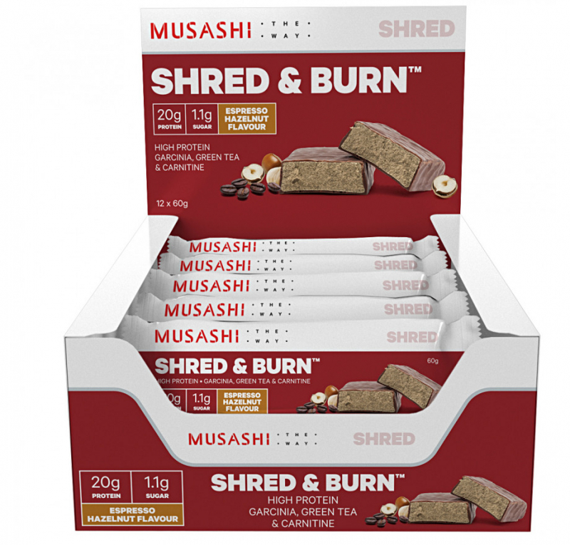 Thanh protein Musashi Shred And Burn Chocolate