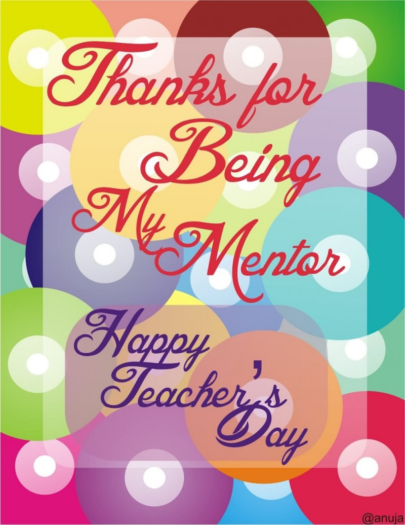 Thank you for being my mentor. Happy Vietnamese teachers' day.