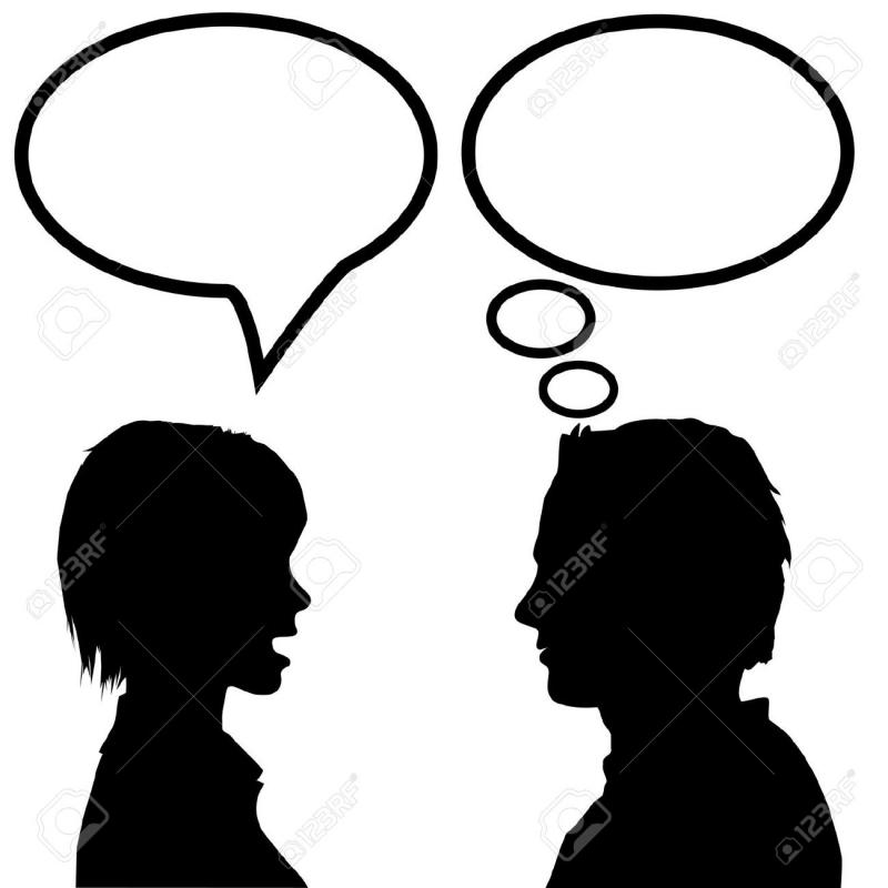 She says, he listens