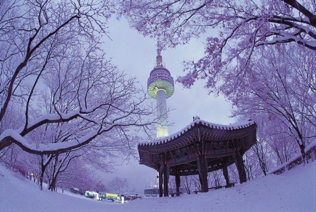 Tọa lạc trên núi đỉnh núi Namsan tươi đẹp