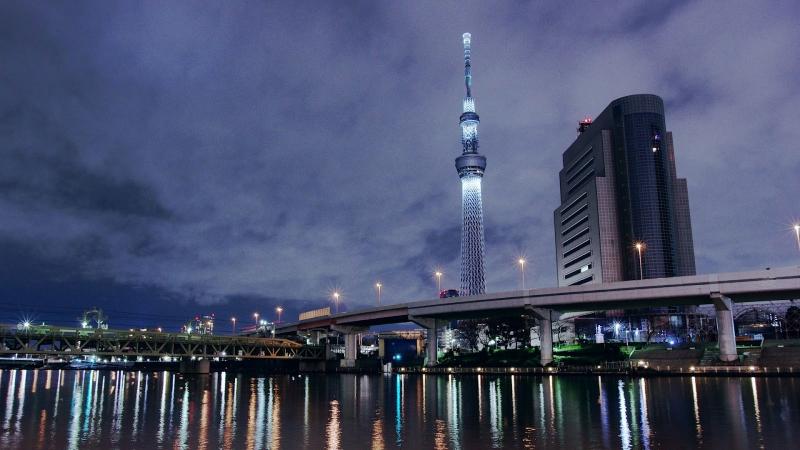 Tokyo Skytree là toà tháp truyền hình cao nhất thế giới tại thời điểm này