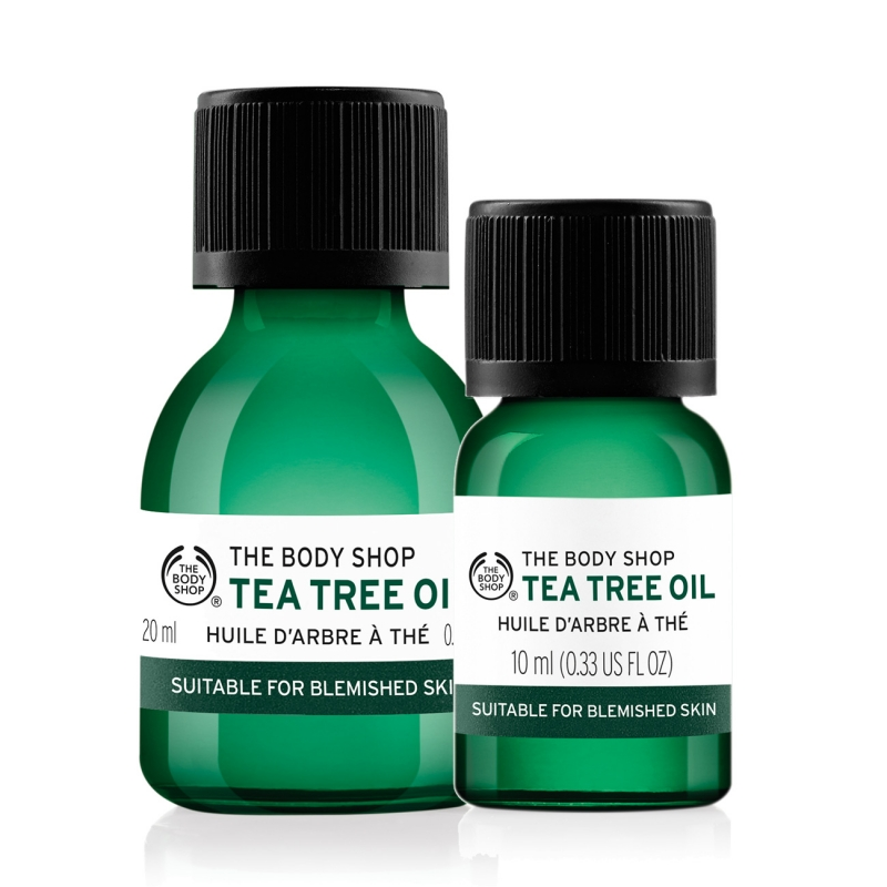 The Body Shop Tea Tree Oil với 2 size là 10ml và 20ml