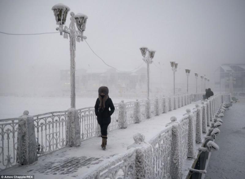 Mọi nơi của thành phố đều bị đóng băng