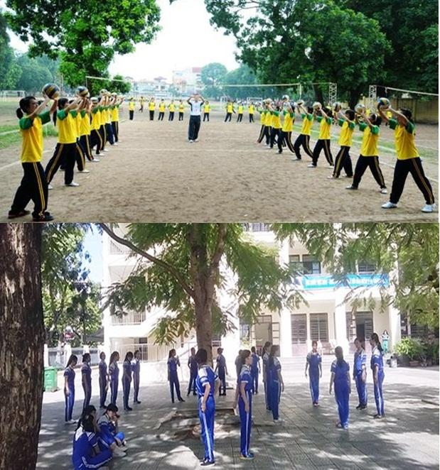 Giờ học thể dục của sinh viên Việt Nam