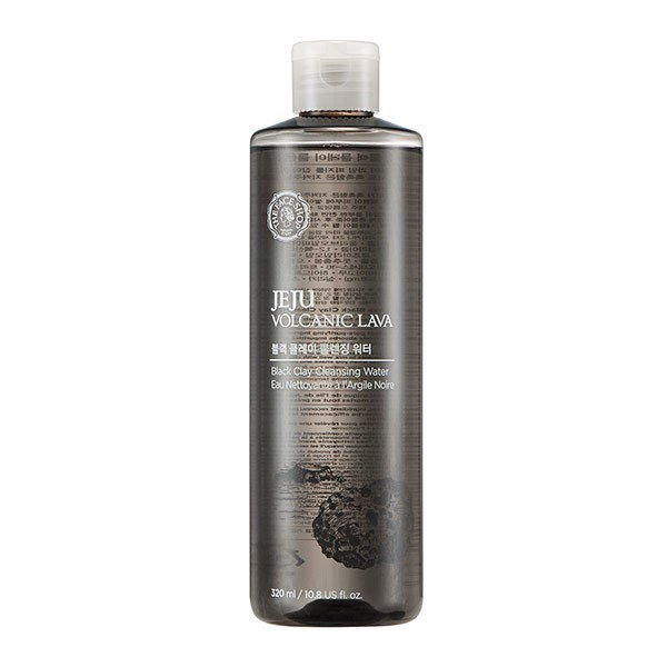 The Face Shop Jeju Volcanic Lava Black Clay Cleansing Water
