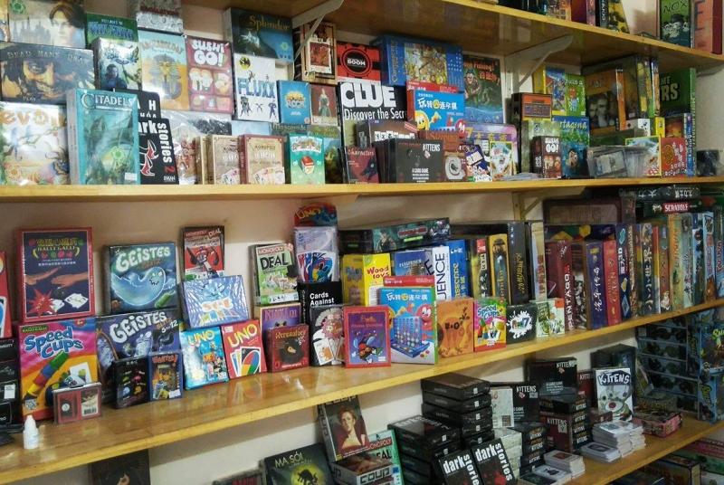 Một góc trưng bày của Thế Giới Board Game