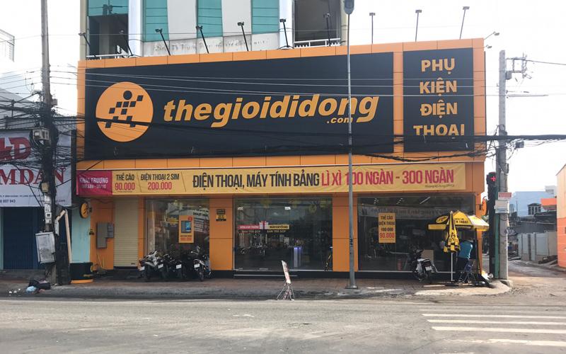 Thế giới di động chi nhánh 589 đường Trần Hưng Đạo, phường Bình Khánh, TP. Long Xuyên, tỉnh An Giang