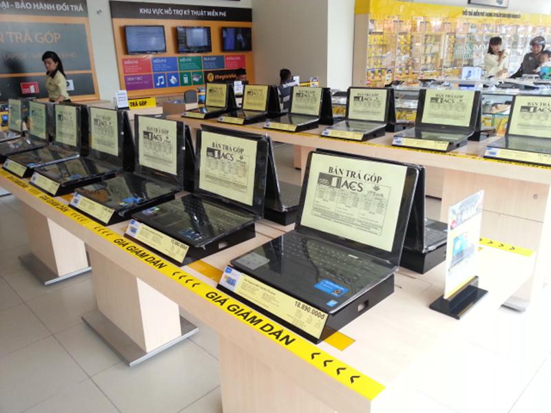 Máy tính được trưng bày ở Thế giới di động