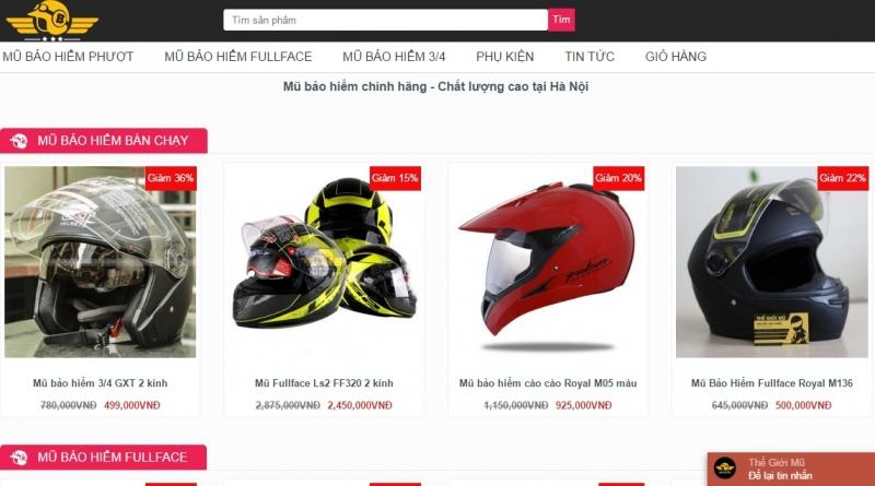 Website của Thế Giới Mũ Bảo Hiểm