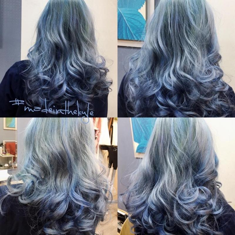 Màu tóc nhuộm pastel của tiệm đẹp, lên màu chuẩn