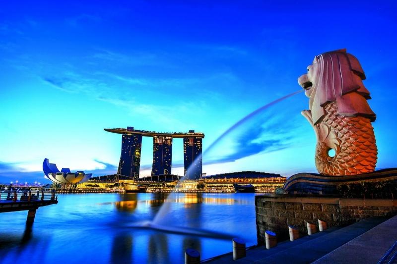 Merlion là biểu tượng của đất nước Singapore