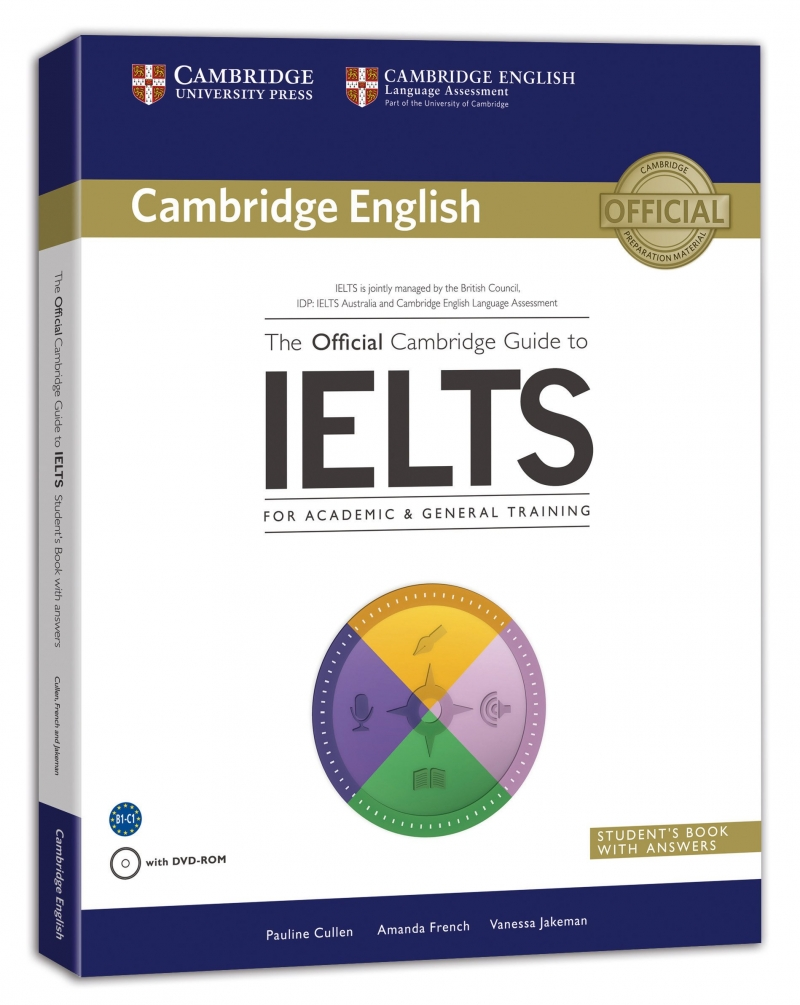 Cuốn sách The Official Cambridge Guide to IELTS.