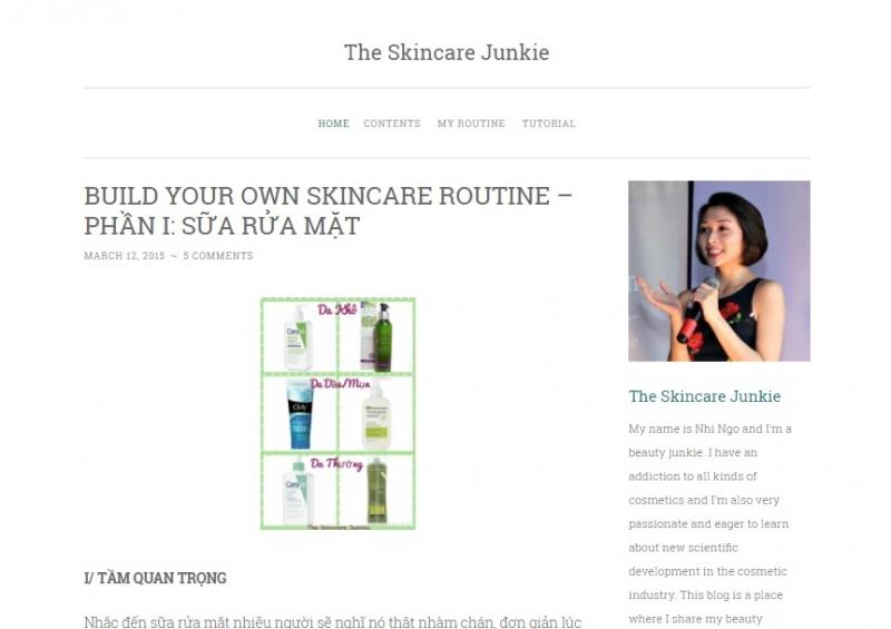 Trang Web chính thức của The skincare Junkie