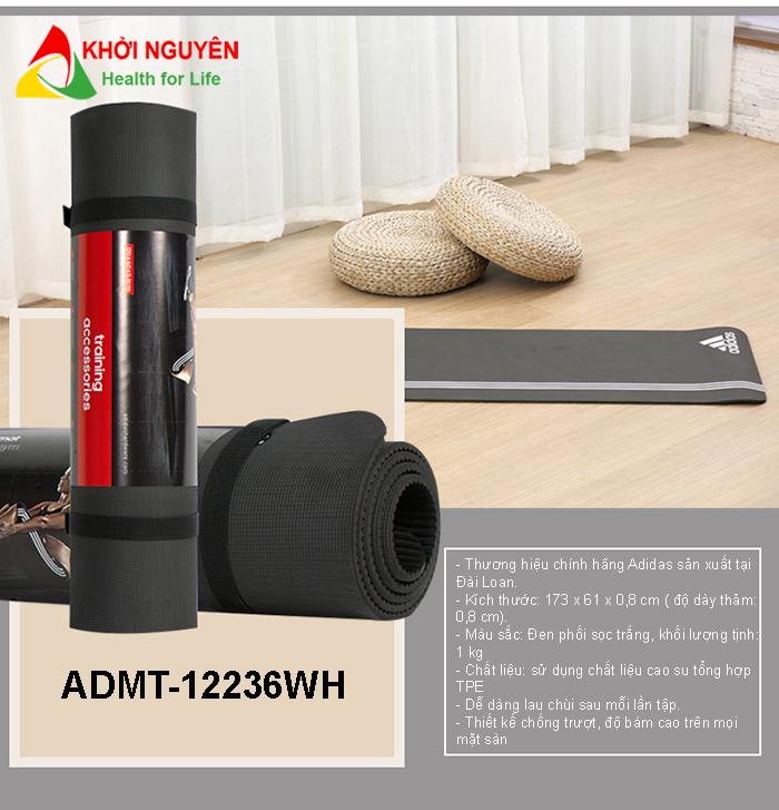 Thảm tập Yoga Adidas ADMT-12236WH chính hãng