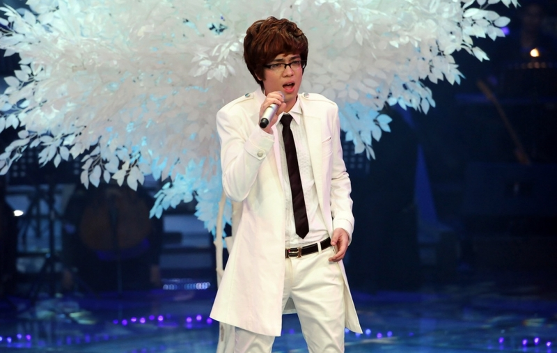 Hình ảnh đêm liveshow 10 của Bùi Anh Tuấn tại The Voice 2012