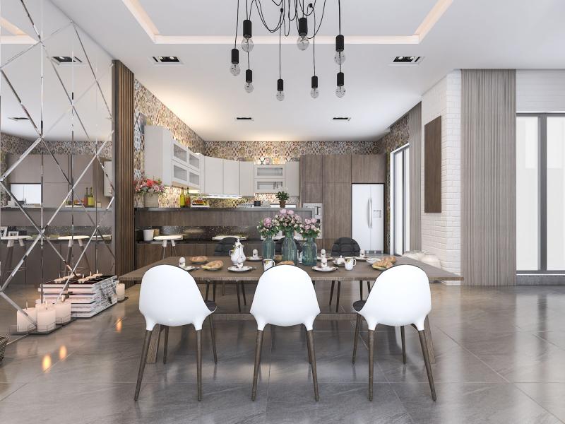 Mẫu thiết kế nhà bếp công trình biệt thự của TheHouseDesign