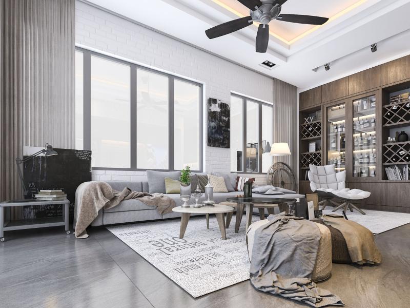 Mẫu thiết kế phòng khách công trình biệt thự của TheHouseDesign