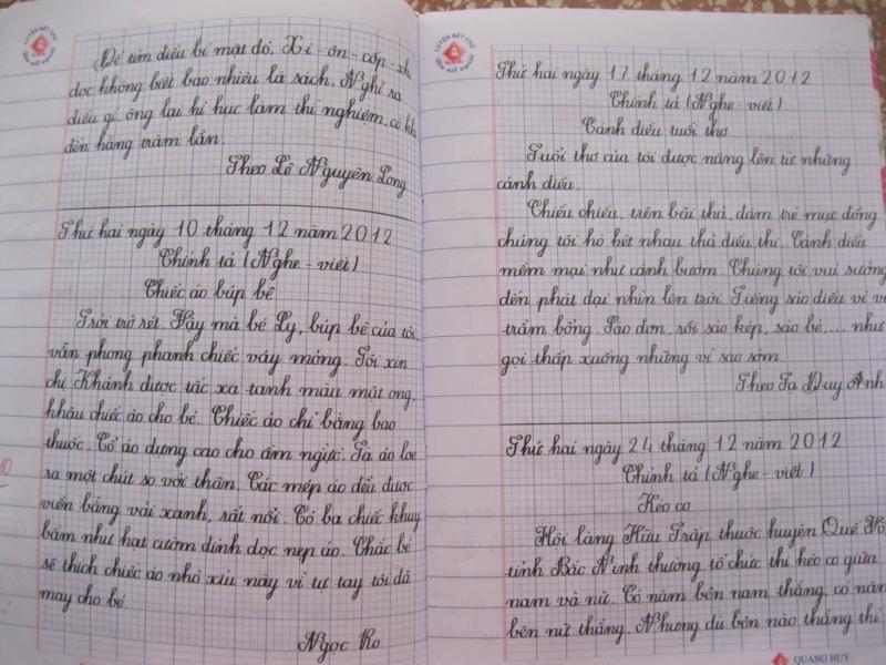 Thi chữ viết đẹp giáo viên và học sinh