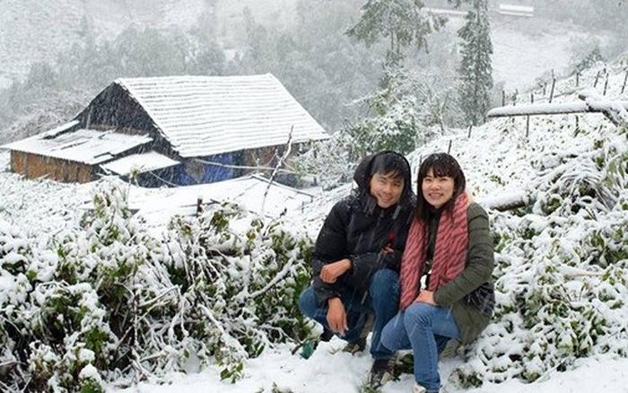 Thật tuyệt hảo khi bạn sở hữu cho mình bộ ảnh cưới tại thị trấn Sapa vào mùa tuyết rơi