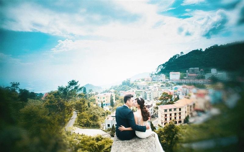 Bộ ảnh cưới tại thị trấn Sapa vào buổi sớm mai đầy huyền bí