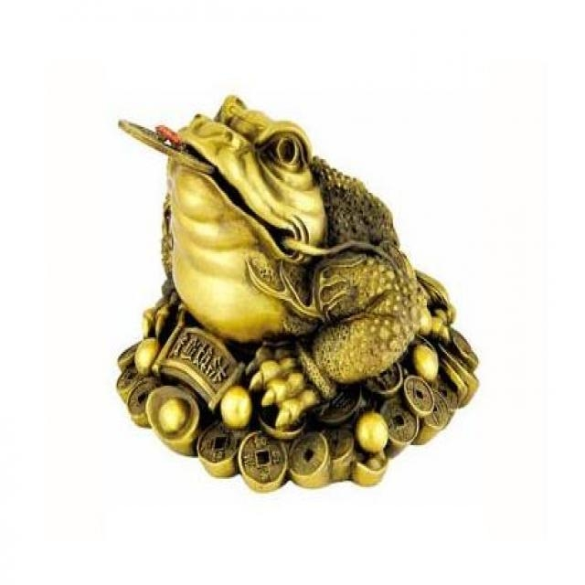 Thiềm thừ ( cóc ba chân) - tượng trưng của tiền tài trong phong thủy.