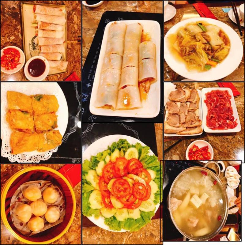 Các món ăn rất ngon miệng và đẹp mắt