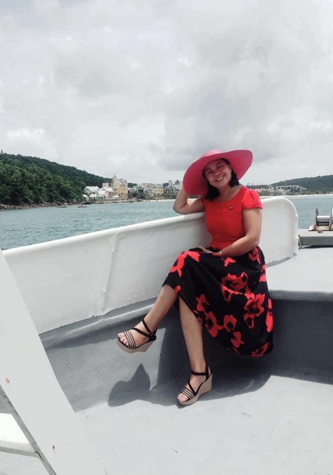 Tác giả trên biển Phú Quốc hè năm 2018.
