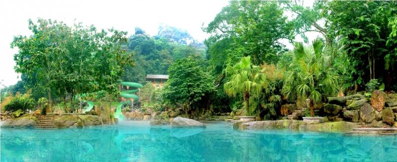 Phong cảnh hài hòa của khu du lịch Thiên Sơn - Suối Ngà