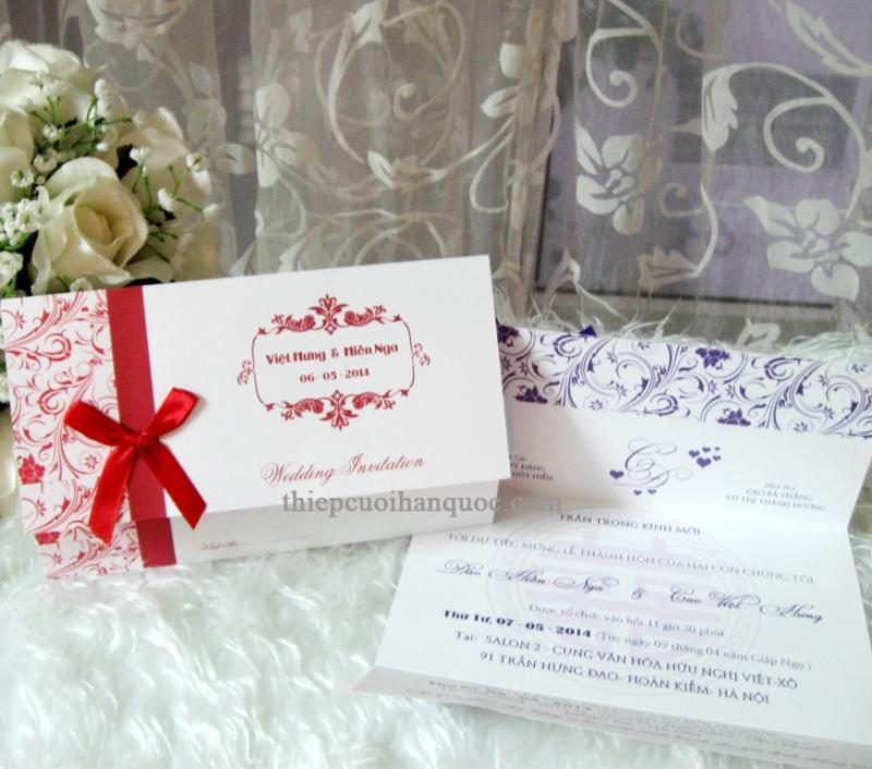 Mẫu thiệp cưới sang trọng mang phong cách Hàn Quốc