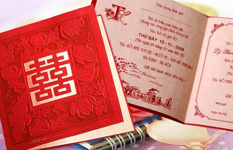 Tấm thiệp cưới thể hiện sự tôn trọng người được mời