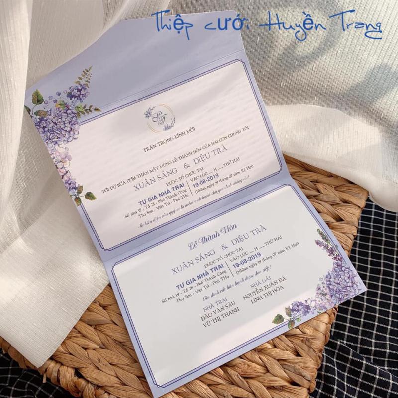 Top 7 Địa chỉ in thiệp cưới đẹp và chất lượng nhất Hải Dương