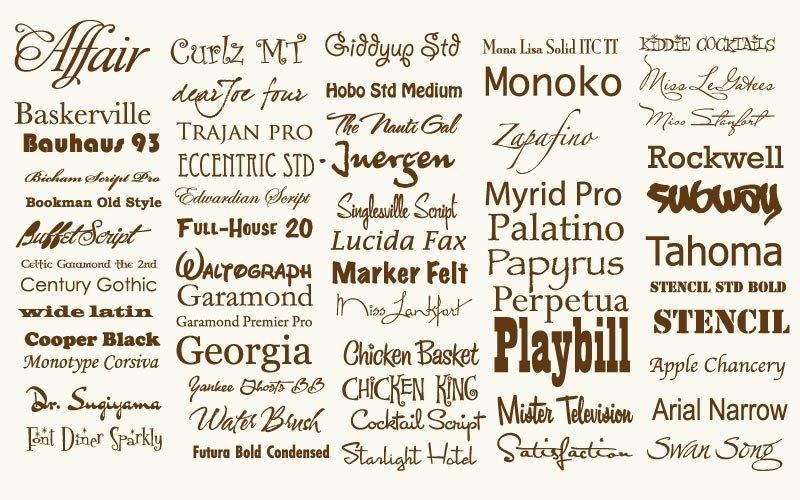 Những mẫu chữ khắc trên thiệp được khách hàng thường lựa chọn
