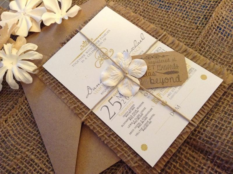 Mẫu thiệp cưới mang phong cách Rustic đẹp độc lạ