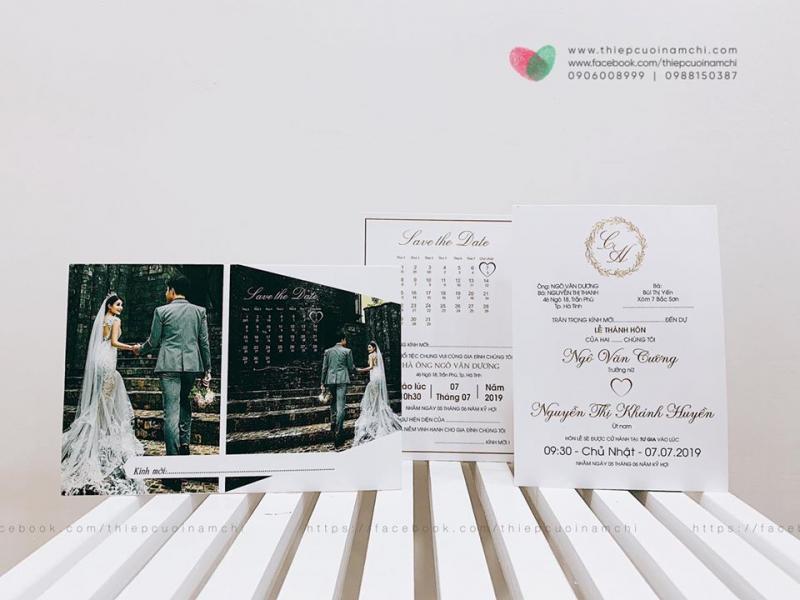 Thiệp cưới Nam Chi