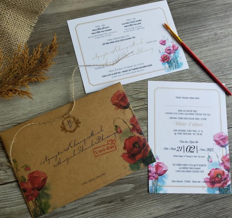 Thiệp cưới Nắng
