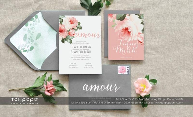 Những tấm thiệp cưới ngọt ngào ở Tanpopo Wedding