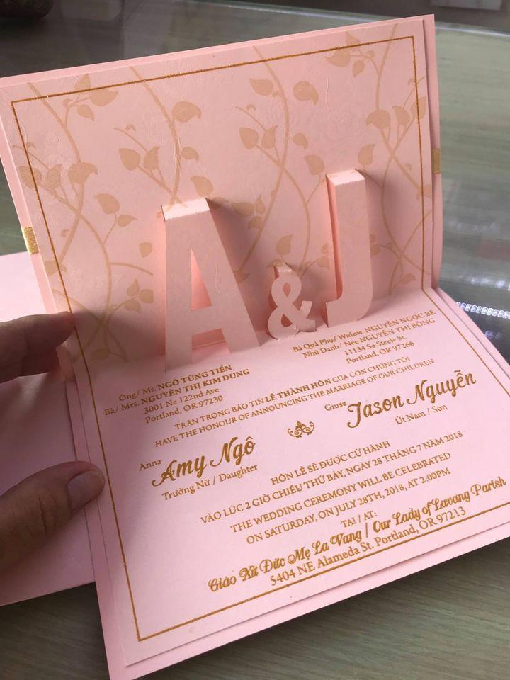Thiệp cưới Thiên Trúc