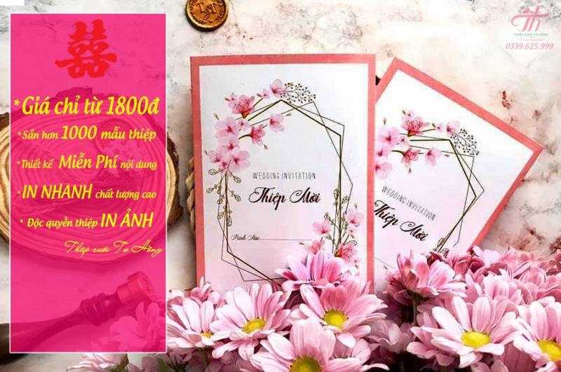 Thiệp cưới Tơ Hồng