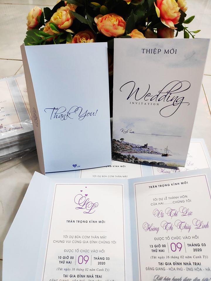 Top 3 Địa chỉ in thiệp cưới đẹp và uy tín nhất quận Hà Đông, Hà Nội
