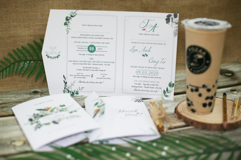 Thiệp cưới Xanh - Xanh Wedding Invitation