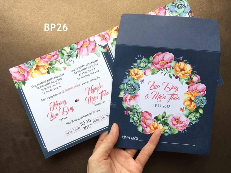Nhiều mẫu thiệp cưới đẹp tại Xinh Xinh